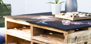 How to make a chalkboard coffee table