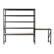 Rack It 400KG 530mm Deep Workbench and Shelving Combo