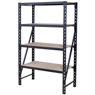 Rack It 1000KG 1200mm Wide 4 MDF Shelf Unit