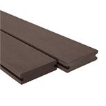 Ekodeck Plus 88 x 23 x 5400mm Dark Brown Grooved Composite Decking