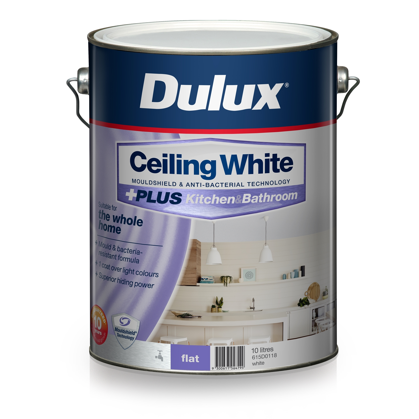 Dulux White Ceiling PLUS Kitchen And Bathroom Paint L - Paint plus