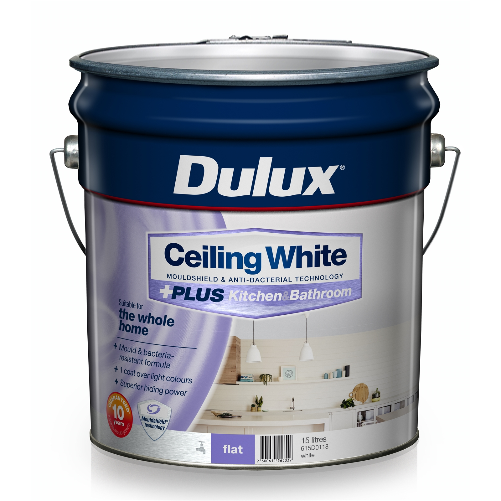 Awe Inspiring Dulux White Ceiling Plus Kitchen And Bathroom Paint 4L Complete Home Design Collection Papxelindsey Bellcom