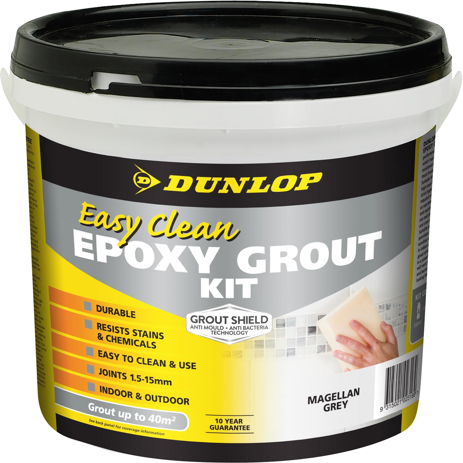 Dunlop Easy Clean Epoxy Grout Kit 3.25kg Joints 1.5-15mm