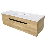 Cibo Design 1200mm Veneer Oslo Wall Hung Vanity No Tap Hole