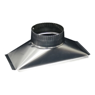 Deflecto 130 x 290mm Rectangular to Round Rangehood Adaptor