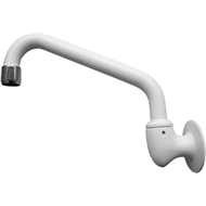 Shaw & Mason WELS 3 Star 180mm White Laundry Tube Wall Spout
