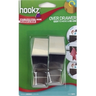 Hookz Stainless Steel Over Drawer Hook - 2 Pack