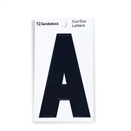 Sandleford 85mm Black Cut Out Self Adhesive Letter A