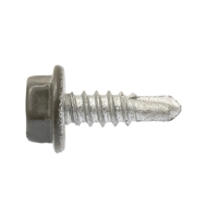 Buildex 10-16 x 16mm Woodland Grey Hex Head Metal Screw - 100 Pack