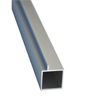 Connect-it 25.4 x 25.4 x 1.2mm 1.2m Anodised Aluminium Square Tube With Lip