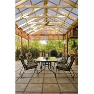 Softwoods 6.0 x 6.0m Pre-cut Gable Attached Colorbond Pergola Kit