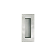 Delf Trade 102mm Polished Stainless Steel Rectangular Flush Pull