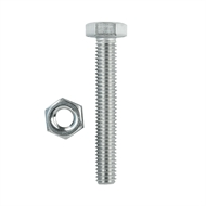 Pinnacle M6 x 40mm Hex Bolt and Nut - 5 Pack