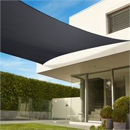 Coolaroo 5.4 x 5.4m Graphite Square Commercial Grade Shade Sail