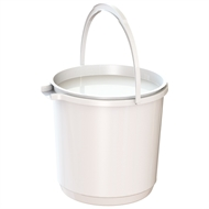 HomeLeisure Trend White 11L Bucket with Lid