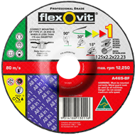 Flexovit 125 x 2.5 x 22mm All In One Grinding Wheel