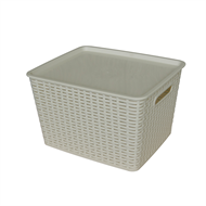 All Set Rattan Style Storage Container - 39L