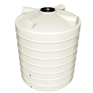 Flexdrive Rotomoulding 3200L Polyethylene Round Water Tank - Off White