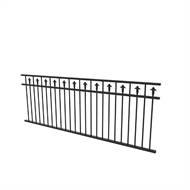 Protector Aluminium 2450 x 900mm Custom Double Top Rail With Spears Fence Panel