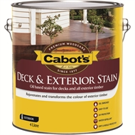 Cabot's 4L Deck & Exterior New Jarrah Oil Based Timber Stain