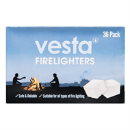 Vesta Fire Lighters - 36 Pack