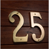 Sandleford 150mm 0 Brass Numeral