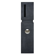 Elite Letterboxes Vermont Charcoal Pillar Letterbox