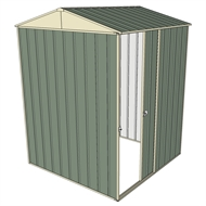 Build-a-Shed 1.5 x 1.5 x 2.3m Gable Single Sliding Side Door Shed - Green