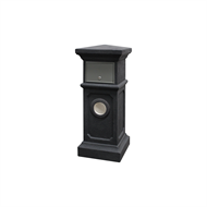 Northcote Pottery 36 x 90cm Charcoal Plymouth Pillar Letterbox