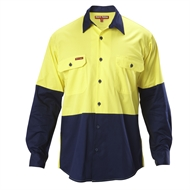 Hard Yakka Koolgear Long Sleeve Shirt - 5XL Yellow / Navy