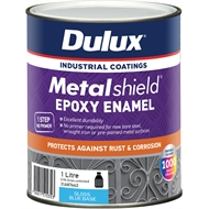 Dulux Metalshield 1L Gloss Blue Base Topcoat Epoxy Enamel Paint