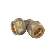 Kinetic 20C x 20C Brass Compression Elbow