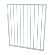 Protector Aluminium 975 x 1200mm Flat Top Garden Gate - To Suit Gudgeon Hinges - Pearl White