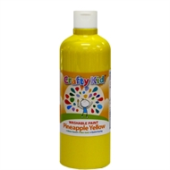 Crafty Kid 500ml Pineapple Yellow Washable Paint