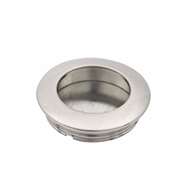 Prestige 40mm Round Brushed Nickel Flush Pull Handle
