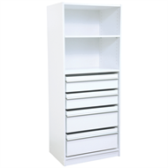 Multistore 1495 x 608 x 430mm Wardrobe Insert With 1 Adjustable Shelf, 2 Standard Drawers and 2 Jumbo Drawer