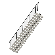 Weldlok Monostringer Concrete And Wire 17 Tread Stair Kit