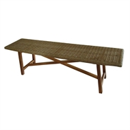 Mimosa Timber and Wicker Corsica Bench