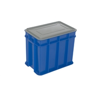 Award 9L Multistack Blue Storage Crate With Lid