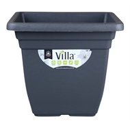 Northcote Pottery 400mm Graphite Square Villa Plastic Pot