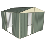 Build-a-Shed 3.0 x 3.0 x 2.3m Gable Double Sliding Side Door Shed - Green