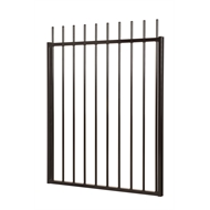 Protector Aluminium 1470 x 1200mm Custom Picket Top Driveway Gate