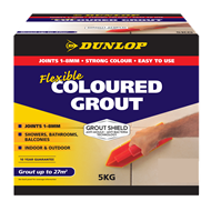 Dunlop 5kg Flexible Coloured Grout - Alabaster