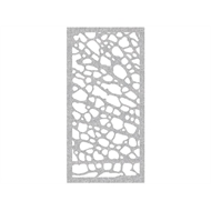 Protector Aluminium 1200 x 2400mm Profile 1 Decorative Panel Unframed - Silver Sparkle