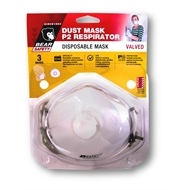 Bear Disposable P2 Respirator Dust Mask With Valve - 3 Pack