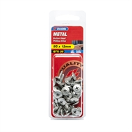 Zenith 8g x 12mm Galvanised Button Head Metal Screws - 35 Pack