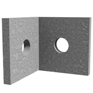 Dunnings 40 x 40 x 40 x 5mm M10 Galvanised Angle Bracket