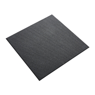 Ultimate Flooring 1 x 1m Charcoal Rubber Patio Tile