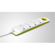 Mort Bay 4 Way Powerboard with 4 USB Surge Protect