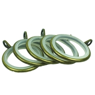 Windoware 25mm Antique Gold Curtain Rod Rings - 5 Pack